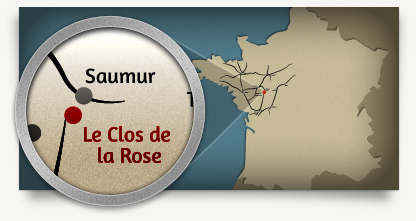 Map of Le Clos de La Rose